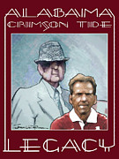 Roll Tide Drawings Posters - Legacy - Bear Poster by Jerrett Dornbusch