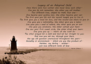 Lighthouse Mixed Media Posters - Legacy Of An Adopted Child Poster by Trish Tritz