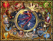 Astrological Signs Prints - Legacy of the Divine Tarot Print by Ciro Marchetti