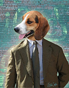 Dogs Digital Art Posters - Legal Beagle Poster by Nikki Smith