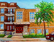 Montreal Judaica Paintings - Legare And Hutchison Synagogue Montreal by Carole Spandau