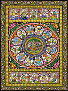 Nerd Painting Framed Prints - Legend of Krishna Framed Print by Anonymous