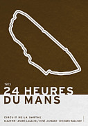 Icon Posters - Legendary Races - 1923 24 Heures du Mans Poster by Chungkong Art