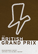 Grande Framed Prints - Legendary Races - 1948 British Grand Prix Framed Print by Chungkong Art