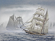 Tall Ship Print Prints - Legendary Yachts Print by James Williamson