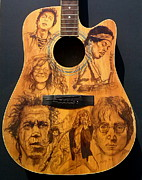 Acoustic Guitar Painting Originals - Legends by Kathleen Kelly Thompson