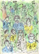 Soccer Drawings Prints - Legends Print by Willhemus Ardylles