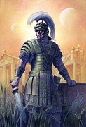 Shield Painting Metal Prints - Legionary Metal Print by Alan  Hawley
