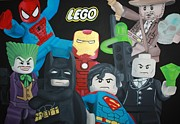 Lego Painting Framed Prints - Lego Heros Framed Print by Laura Mancini