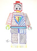 Lego Painting Prints - Lego Man Print by Troy Thomas