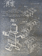 Technical Digital Art Posters - Lego Patent Poster by Nick Pappas