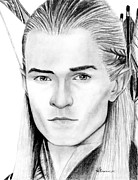 Rings Drawings Prints - Legolas Greenleaf Print by Kayleigh Semeniuk