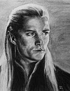 Lord Drawings Metal Prints - Legolas Metal Print by Kira Rubtsova
