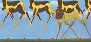 Giraffe Prints - Legs Print by Christy Beckwith