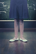 Blackboard Photos - Legs Of A Schoolgirl by Joana Kruse
