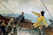 Famous Artists - Leif Erikson discovering America by Christian Krohg