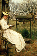 1877 Paintings - Leisure Hours by John Robertson Reid