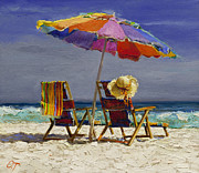Umbrella Paintings - Leisure Time by Oleg Trofimoff