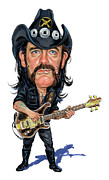 Caricatures Paintings - Lemmy Kilmister by Art