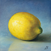 Painted Food Prints - Lemon Print by Anna Abramska