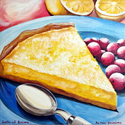 Food Paintings - Lemon Cake by Raffaella Di Vaio