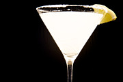 Lemon Art Photo Posters - Lemon Drop Martini Poster by Spencer McDonald