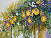 Drips Paintings - Lemon Drops by Renee Chastant