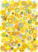 Polka Drawings Prints - Lemon Fizz Print by Regina Valluzzi