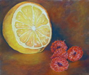 Raspberry Pastels Originals - Lemon Glow by Carol Allen