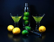 Martini Shaker Photos - Lemon Or Lime by Diana Angstadt