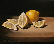 Lisa Phillips Owens Painting Prints - Lemon Still Life Print by Lisa Phillips Owens