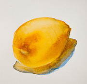 Minimalistic Paintings - Lemon Study by Jani Freimann