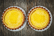 Cakes Posters - Lemon tarts Poster by Elena Elisseeva