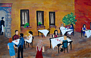 Italian Meal Painting Posters - Lemon Tree Poster by Dixie Adams