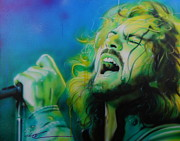 Eddie Vedder Paintings - Lemon Yellow Sun by Christian Chapman Art