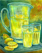 Lemon Paintings - Lemonade by Barbel Amos