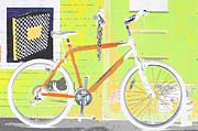 Bicycle Collage Prints - Lemonade Bicycle Print by Adspice Studios