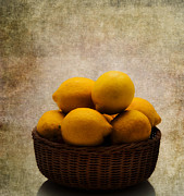 Lemon Metal Prints - Lemons Metal Print by Bill  Wakeley