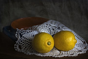 California Contemporary Gallery Framed Prints - Lemons Framed Print by Elena Nosyreva