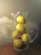 Tabletop Prints - Lemons In Waiting Print by Donna Jackson