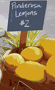 Sour Metal Prints - Lemons Metal Print by Karyn Robinson