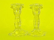Glow Glass Art Prints - Lemonsticks Print by Catherine Renzini