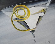 Peel Paintings - Lemontini by Donna Tuten
