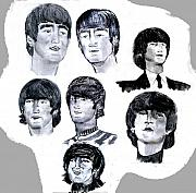 Beatles Digital Art Originals - Lennon 1963-65 by Moshe Liron