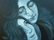 George Harrison Paintings - Lennon and Ono by To-Tam Gerwe