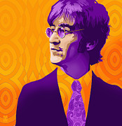 The Beatles John Lennon Drawings - Lennon by Craig Carl