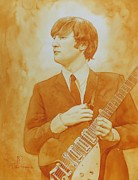 Original Watercolor Painting Originals - Lennon Gold by Robert Hooper