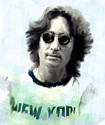 Iconic Painting Originals - Lennon John Lennon by Iconic Images Art Gallery David Pucciarelli