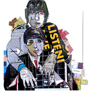 Rock Stars Mixed Media Posters - lennon mcCartney Poster by Brian Buckley