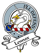 Genealogy Prints - Lennox Clan Badge Print by Heraldry
